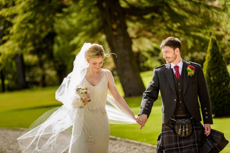 Carrie & Lee's Wedding Photography at Fasque House, Aberdeen