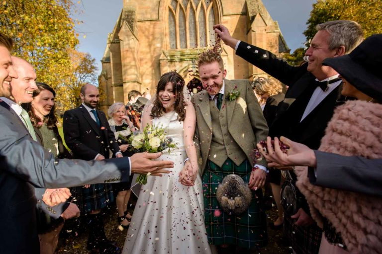 Sophie & Alistair's Wedding Photography at Dornoch Cathedral